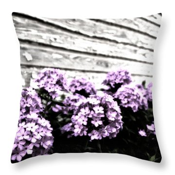 Vintage Flowers Throw Pillow by Tamyra Ayles