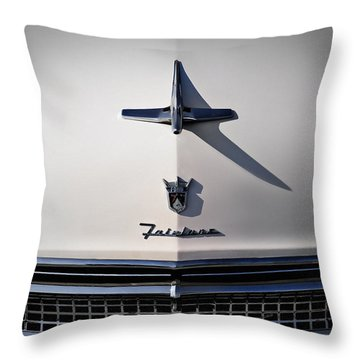 Vintage Hood Ornament Throw Pillows