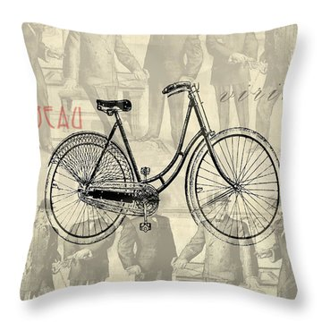 Vintage Man Throw Pillow by Greg Sharpe