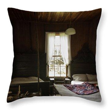 Vintage Quilting Frame Throw Pillow by Lynn Palmer