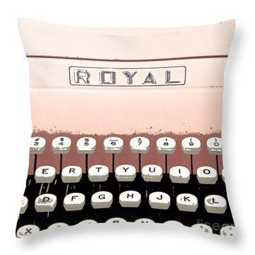 Vintage Royal Typewriter Throw Pillow by Glennis Siverson