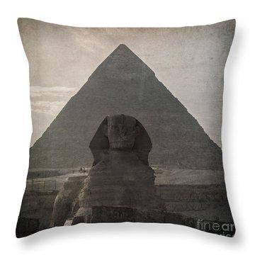 Vintage Sphinx Throw Pillow