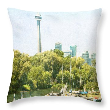 Vintage Toronto Throw Pillow