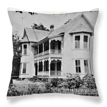 Vintage Victorian House Throw Pillow