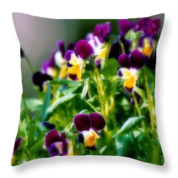 Viola Parade Throw Pillow by Karen Wiles