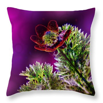 Violet Labialize Flora Throw Pillow by Bill Tiepelman