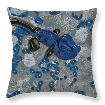 Violinelle - V02-09a Throw Pillow by Variance Collections
