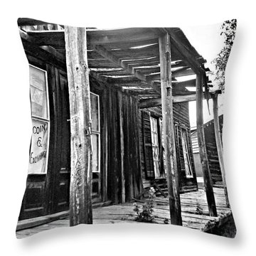 Virginia City Brewery Area Throw Pillow by Susan Kinney