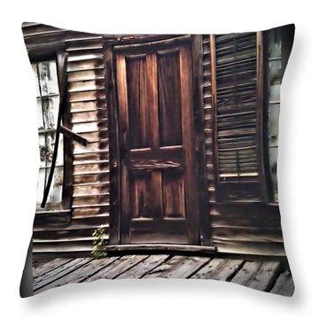 Virginia City Ghost Town Door I Throw Pillow