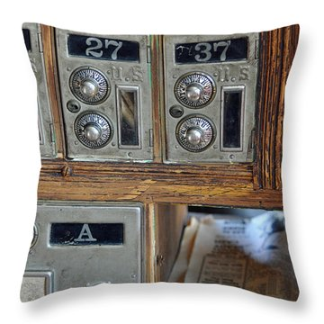 Virginia City Post Office Box Throw Pillow by Bruce Gourley