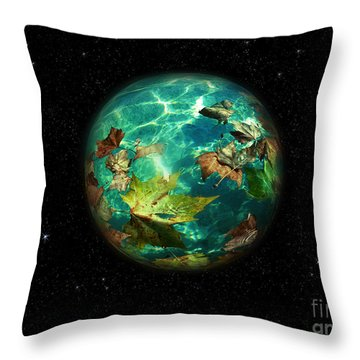 Viriditas World Throw Pillow