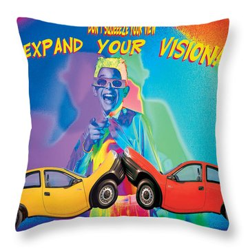 Vision Throw Pillow by Mauro Celotti