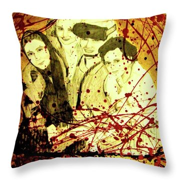 Throw Pillow featuring the mixed media Visit Beautiful Ar Ramadi by Michelle Dallocchio