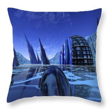 Visitation Throw Pillow by Nicholas Burningham