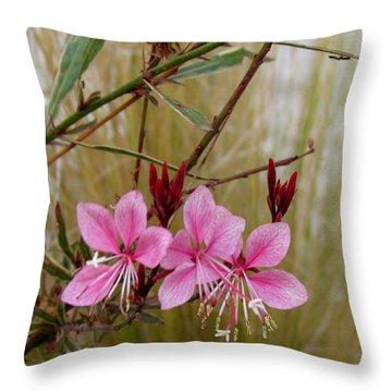 Visiting The Pink Guara Throw Pillow