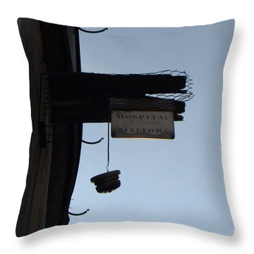 Visiting Time Is Over Throw Pillow by Richard Reeve