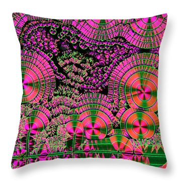 Vitamin C Crystals Spikeberg Throw Pillow by M I Walker