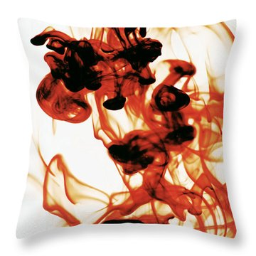 Volcanic Eruption Throw Pillow by Sumit Mehndiratta
