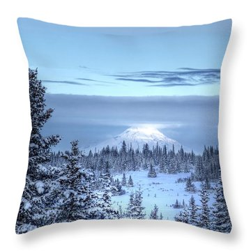 Throw Pillow featuring the photograph Volcano In The Clouds by Michele Cornelius