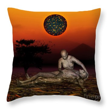 Volcanos Pieta Throw Pillow