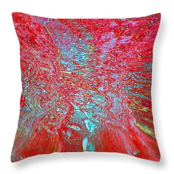 Throw Pillow featuring the digital art Vortex Red by Cindy Lee Longhini