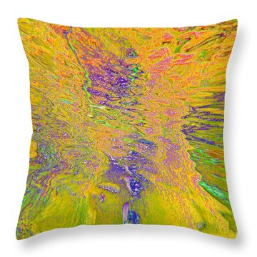 Throw Pillow featuring the photograph Vortex Yellow by Cindy Lee Longhini