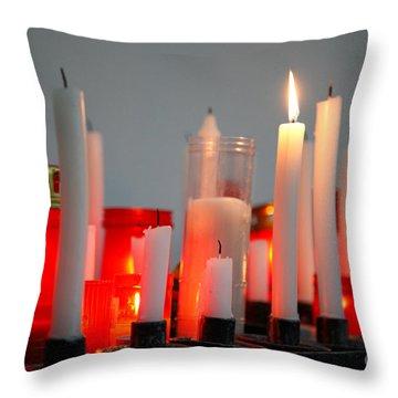 Votive Candles Throw Pillow by Gaspar Avila
