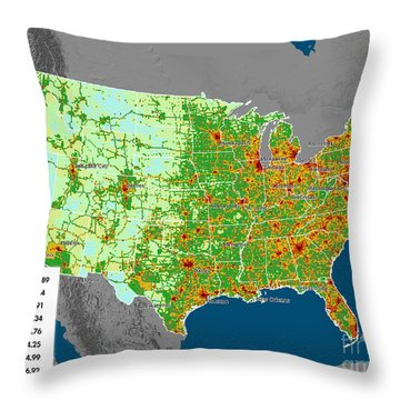 Vulcan Co2 Maps Throw Pillow by Nasa