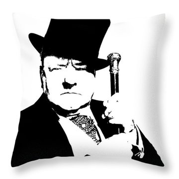 Throw Pillow featuring the painting W. C. Fields by Jann Paxton