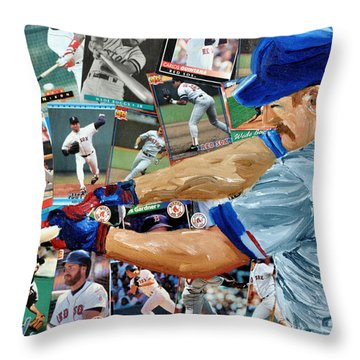 Wade Boggs Throw Pillow by Michael Lee