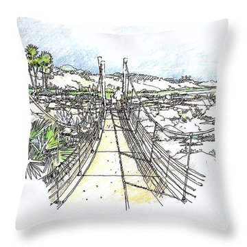 Wadi Crossing Throw Pillow