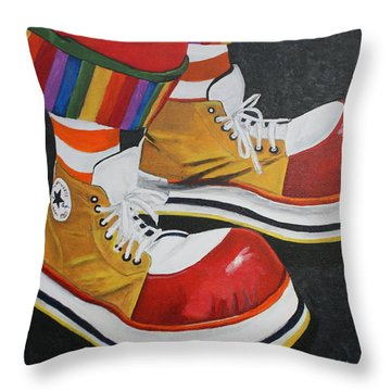 Waffle's Shoes Throw Pillow
