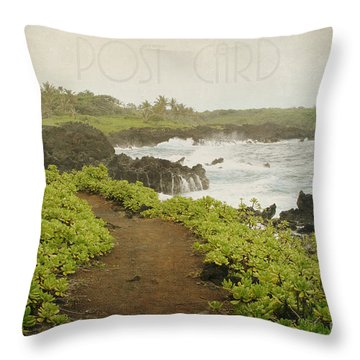 Waianapanapa Throw Pillow by Sharon Mau