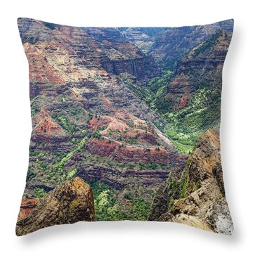 Waimea Canyon Throw Pillow
