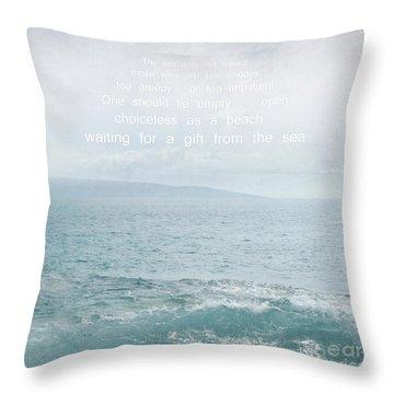 Waiola Water Of Life Throw Pillow by Sharon Mau