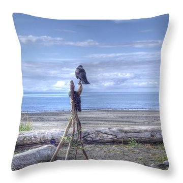 Throw Pillow featuring the photograph Waiting And Watching by Michele Cornelius