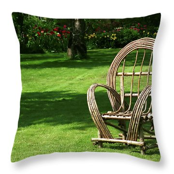 Waiting Throw Pillow by Andrew Fare