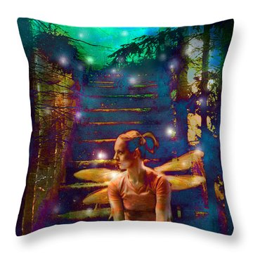 Waiting At The Gates Of Dawn Throw Pillow