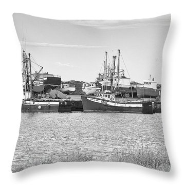 Waiting Throw Pillow by Eunice Gibb
