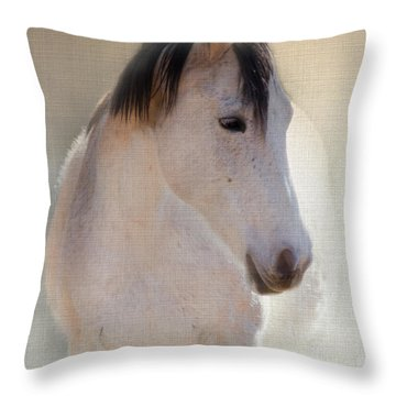 Waiting For Her Throw Pillow by Betty LaRue