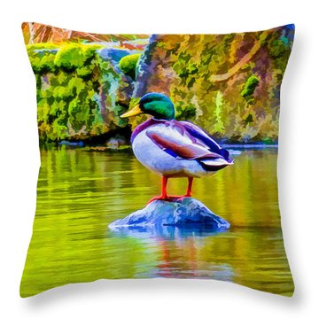 Throw Pillow featuring the photograph Waiting For Mrs Drake by Ken Stanback