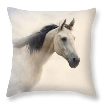 Waiting For My Lady Throw Pillow by Betty LaRue