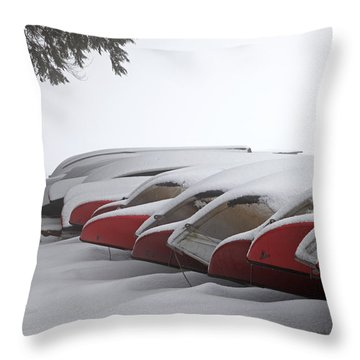 Waiting For Spring Throw Pillow by John Stephens