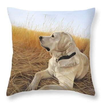 Waiting For The Birds Throw Pillow