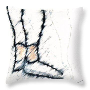 Waiting For The Concert Throw Pillow by Patrick Morgan