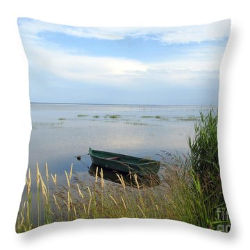 Throw Pillow featuring the photograph Waiting For The Nightshift by Ausra Huntington nee Paulauskaite
