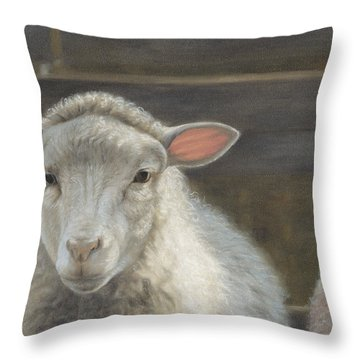 Waiting For The Shepherd Throw Pillow