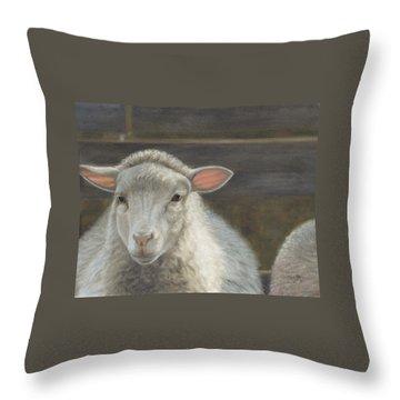 Waiting For The Shepherd Throw Pillow