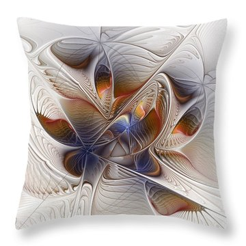 Waiting In The Wings Throw Pillow by Kim Redd