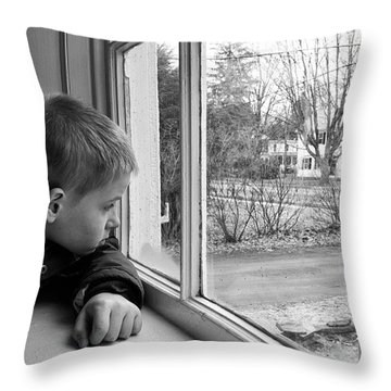 Waiting Throw Pillow by Nathan Larson